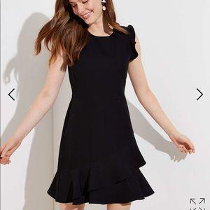 LOFT 'WRAPAROUND FLOUNCE FLARE DRESS' Brand New!